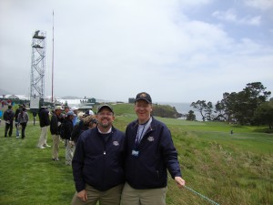 Brad and I at the 6th hole at Pebble Beach