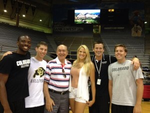 Dick Vitale at CU Volleyball camp