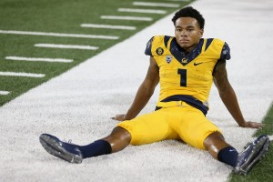 Cal wide receiver Bryce Treggs reacts to last second loss to Arizona