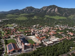 CU aerial view with Champions Center