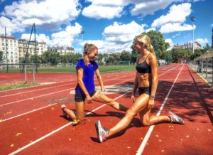 Emma and Jenny training in Paris