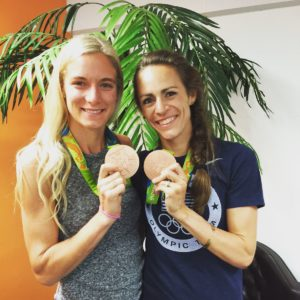 emma and Jenny with bronze medals
