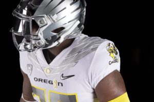 Oregon will wear this gear Sept. 9 to commemorate Childhood Cancer Awareness  Month. Three years ago 705eead2c